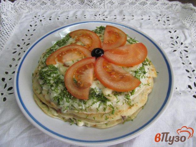 фото рецепта: Закуска из блинов с начинкой
