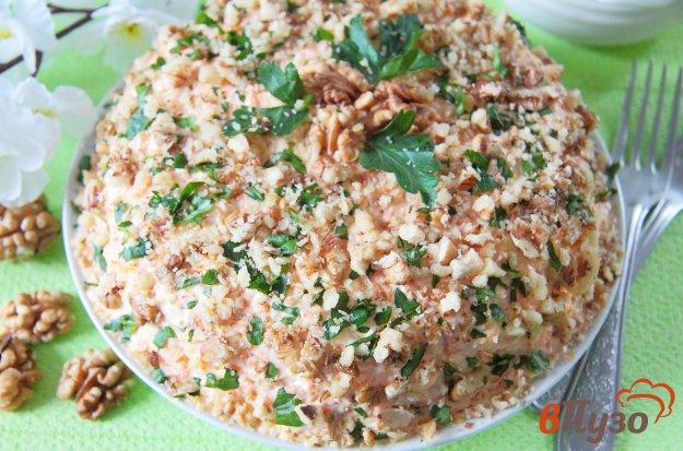 фото рецепта: Слоеный салат с сельдью и грецкими орехами