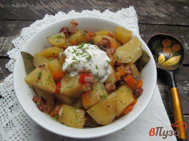 фото рецепта: Тушеный картофель на беконе