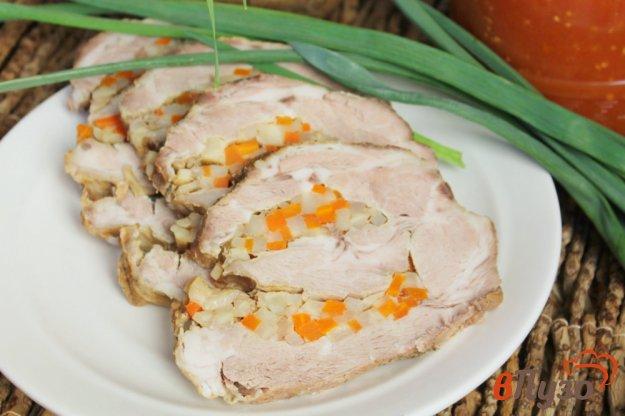 фото рецепта: Ошеек с морковкой, чесноком и сельдереем