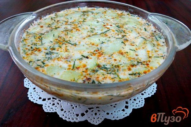 фото рецепта: Болгарский кефирный суп с грецкими орехами