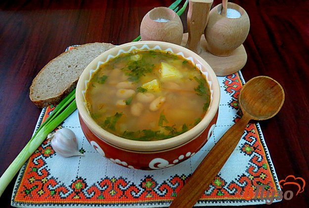 фото рецепта: Суп фасолевый постный