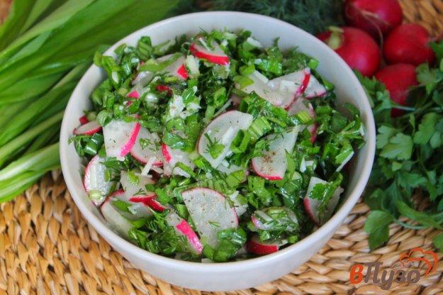 фото рецепта: Салат из редиса с зеленью и сыром