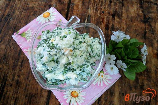 фото рецепта: Салат из черемши и творога