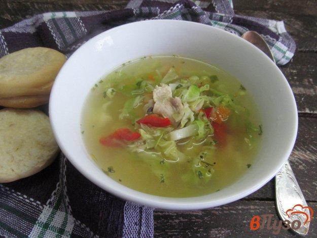 фото рецепта: Куриный суп с молодой капустой