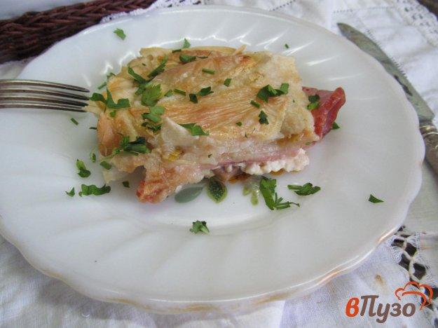 фото рецепта: Запеканка в лаваше с начинкой