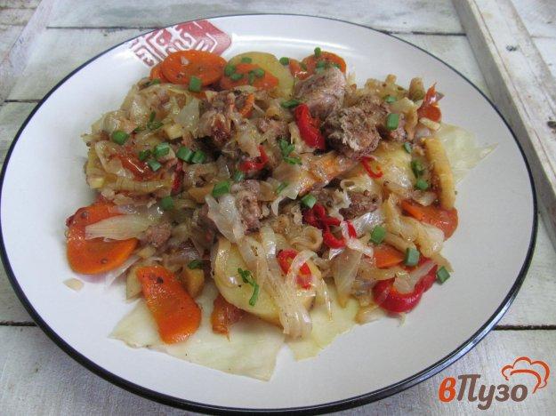фото рецепта: Овощи с мясом в собственном соку - в мультиварке