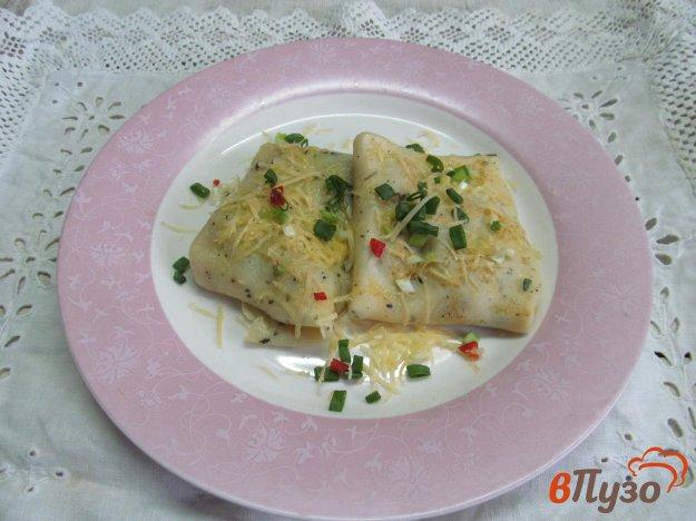 фото рецепта: Французские блинчики с начинкой из грибов