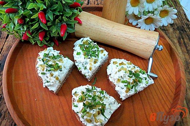 фото рецепта: Творог с зеленью на перекус