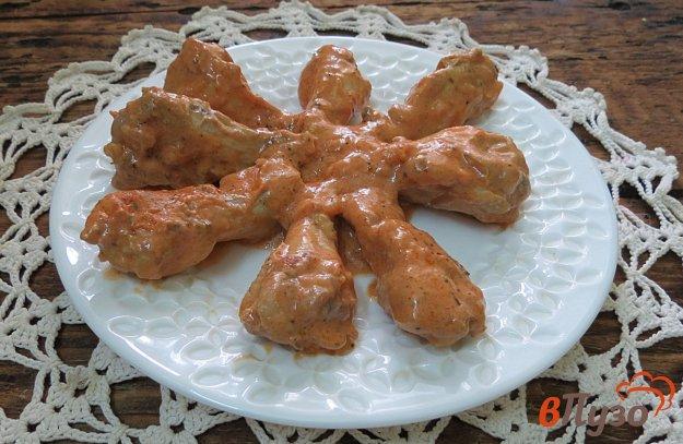 фото рецепта: Куриные крылышки в сметанно-томатном соусе