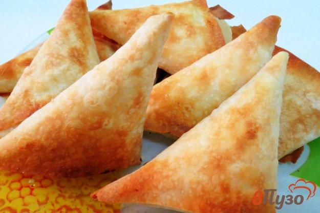 фото рецепта: Пирожки с творогом из лаваша