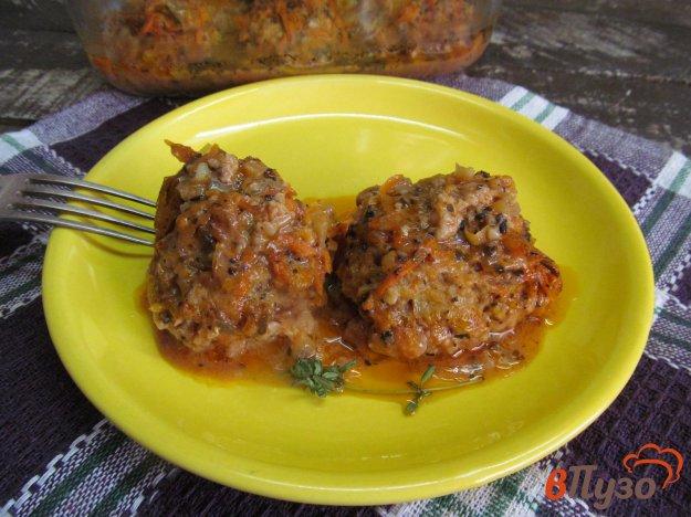 фото рецепта: Мясные тефтели с овсянкой в духовке