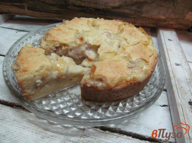 фото рецепта: Яблочный пирог с кремом