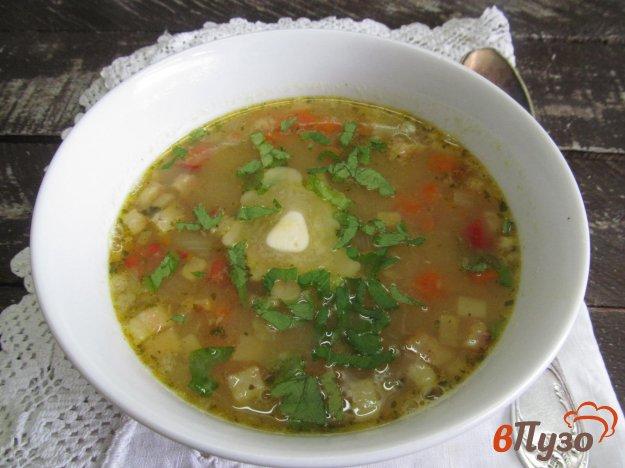 фото рецепта: Гороховый суп на копченом беконе