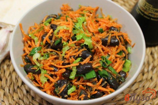 фото рецепта: Морковный салат с черной фасолью
