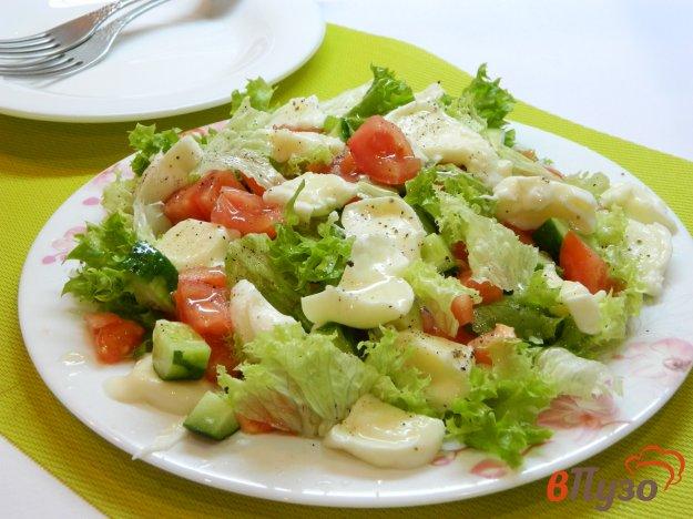 фото рецепта: Микс- салат с  моцареллой