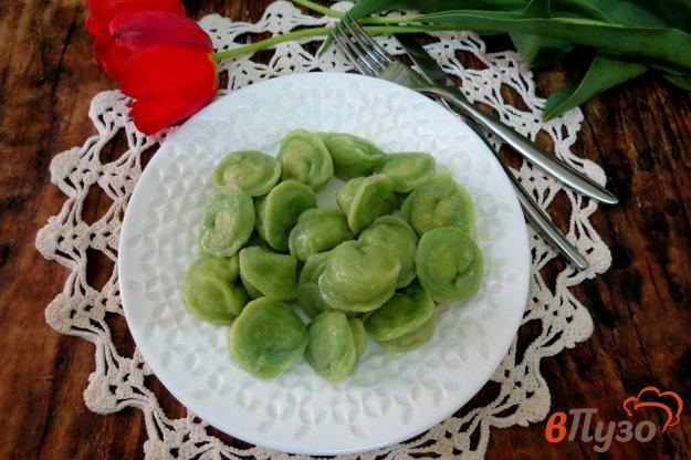 фото рецепта: Зелёные пельмени на натуральном соке