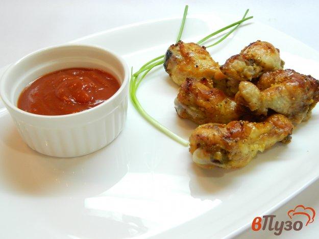 фото рецепта: Крылышки со специями и французской горчицей