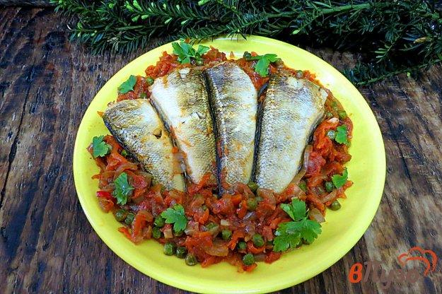 фото рецепта: Нототения с овощами в духовке
