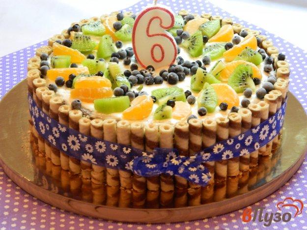 фото рецепта: Воздушный торт со сметано-творожным кремом