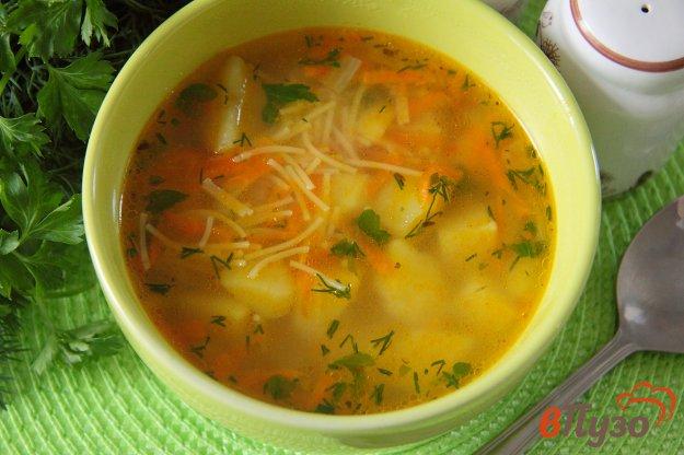фото рецепта: Постный суп с вермишелью