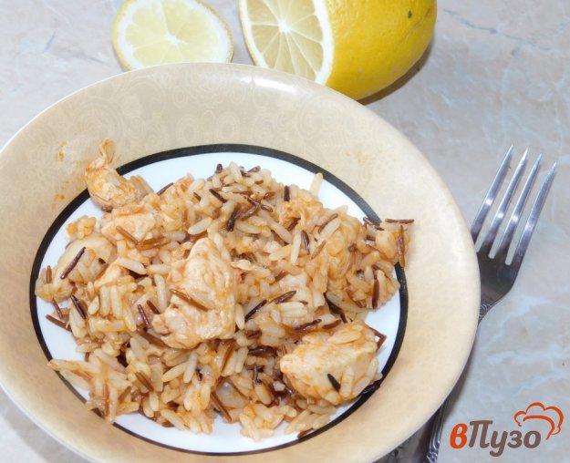 фото рецепта: Индейка, тушеная с рисом в мультиварке