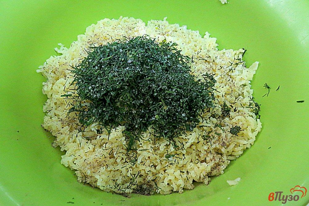 Фото приготовление рецепта: Картофельные зразы в духовке шаг №6