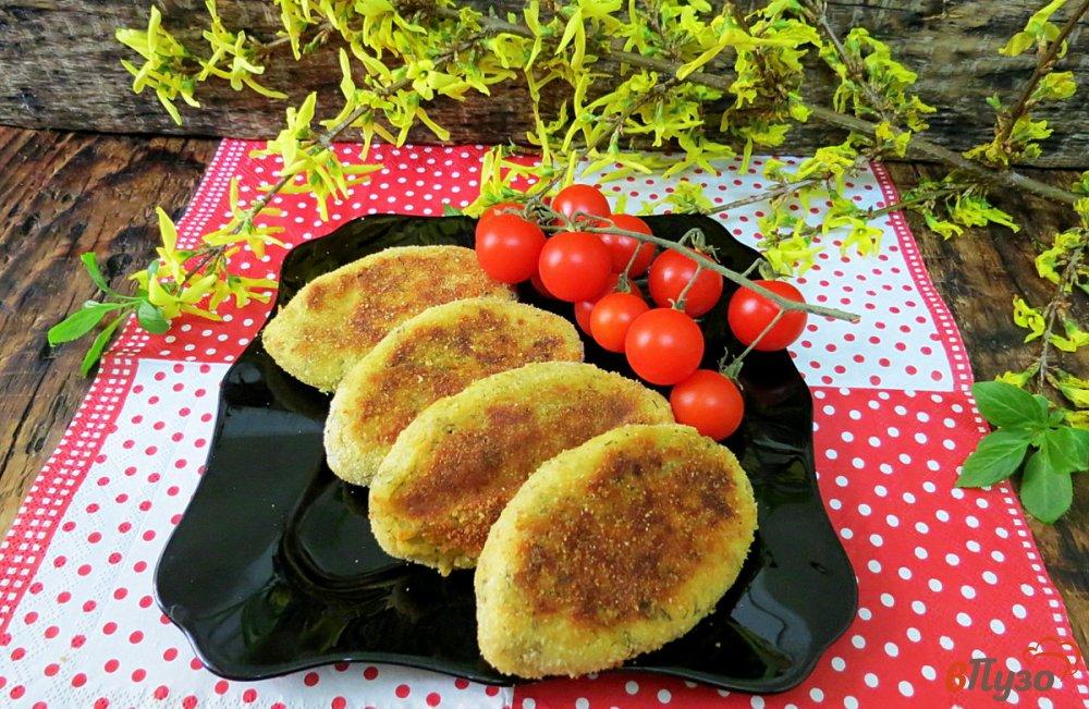 Фото приготовление рецепта: Картофельные зразы в духовке шаг №14