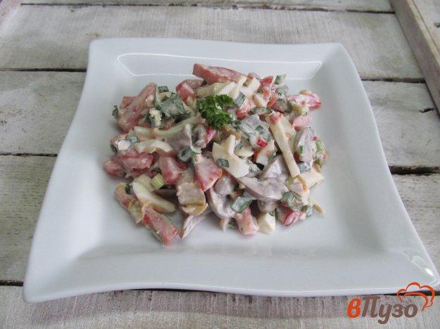 фото рецепта: Овощной салат с почками и яйцом