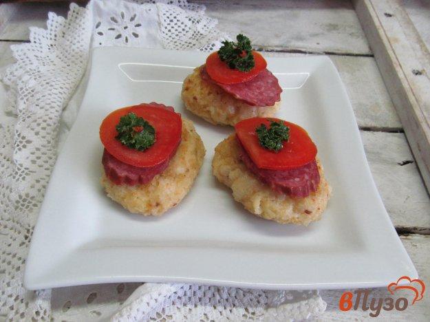 фото рецепта: Оладьи из макарон с сыром