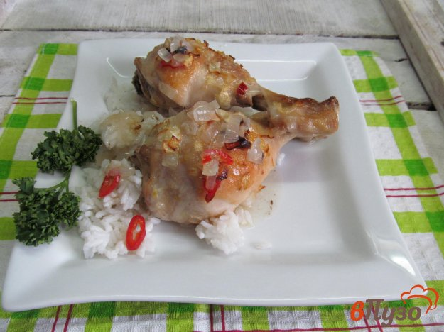 фото рецепта: Куриные ножки в луковом маринаде