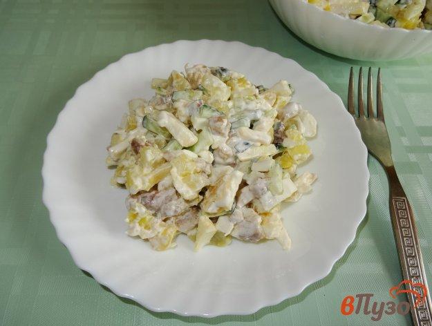 фото рецепта: Салат с сельдью и яблоком