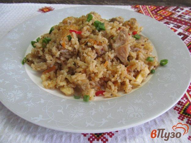 фото рецепта: Свинина с рисом и морковью по-корейски в мультиварке