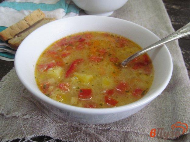 фото рецепта: Суп с крупой и цветной капустой