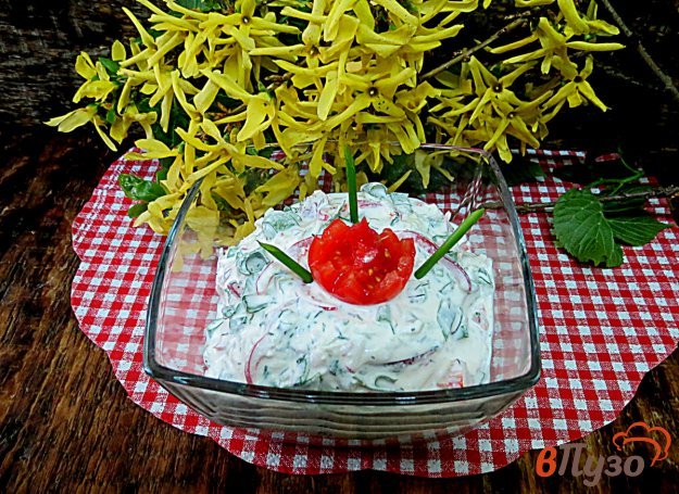фото рецепта: Салат из овощей и творога