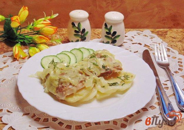 фото рецепта: Куриные бедра запеченные с картофелем