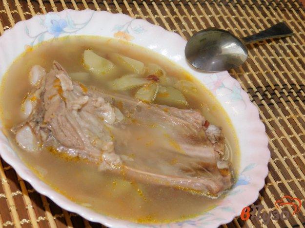 фото рецепта: Суп на свиных ребрах с диким рисом
