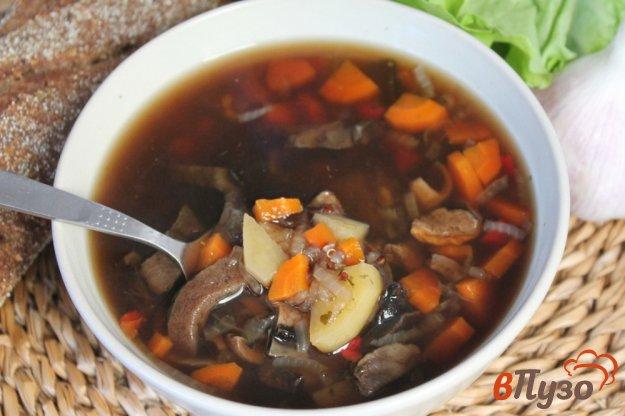 фото рецепта: Грибной суп с киноа