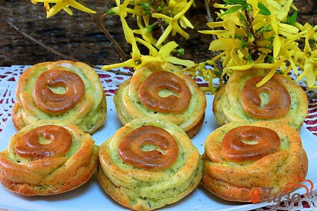 фото рецепта: Сырники с укропом в духовке