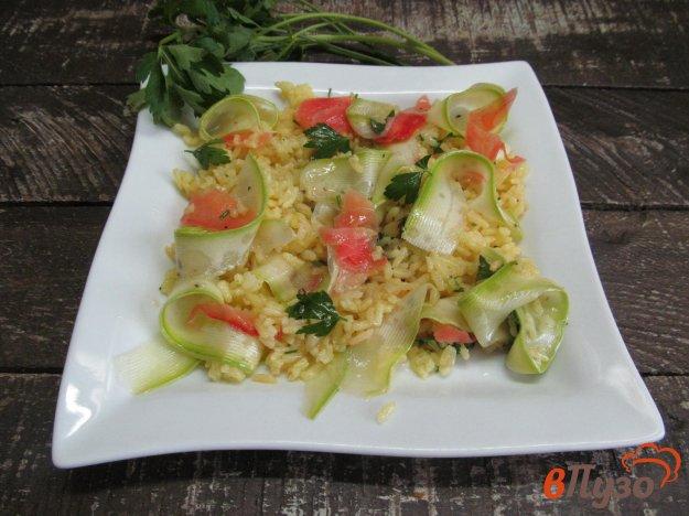 фото рецепта: Рис с кабачком и маринованным имбирем