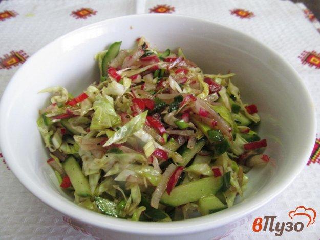фото рецепта: Салат из молодой капусты с редисом и тимьяном