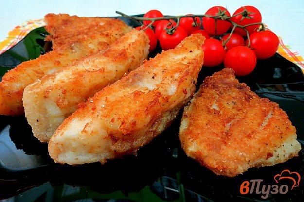фото рецепта: Рыба жареная, панированная в сухарях и крахмале