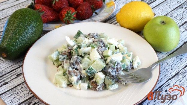 фото рецепта: Салат из шампиньонов с огурцом