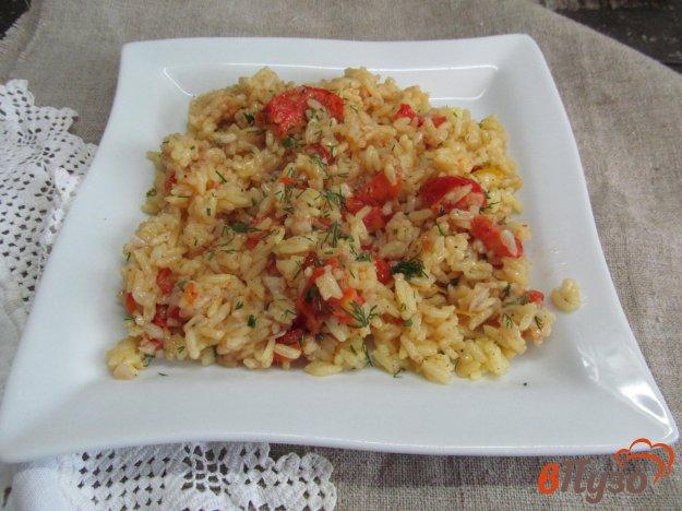фото рецепта: Рис с куркумой и помидором