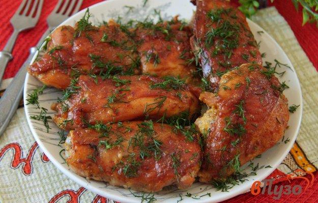 фото рецепта: Куриные бедрышки с майонезом в соевом соусе