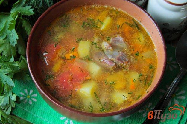 фото рецепта: Гороховый суп с запеченными овощами