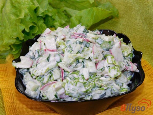 фото рецепта: Салат с редисом и зеленью