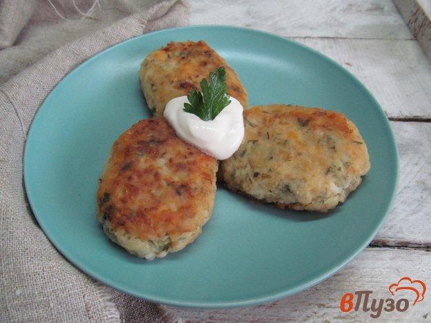 фото рецепта: Греческие котлеты из кабачка и картофеля