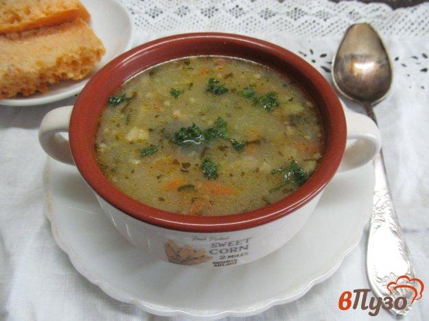 фото рецепта: Овощной суп с мясным фаршем и шпинатом