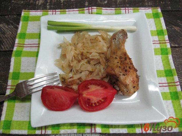 фото рецепта: Курица со свежей капустой в духовке